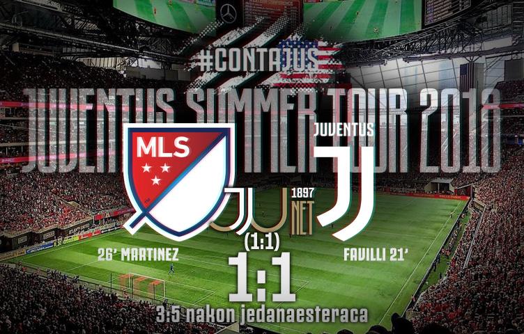 Prijateljska utakmica / MLS All-Stars - Juventus 1:1 (1:1) 3:5 n.p.