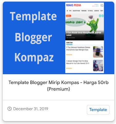 Template Blogger Mirip Kompas.com