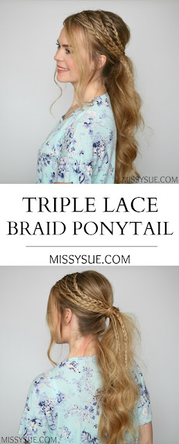 Triple Lace Braid Ponytail