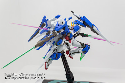 Metal Robot Spirits Xn Raiser + Seven Sword Part set display