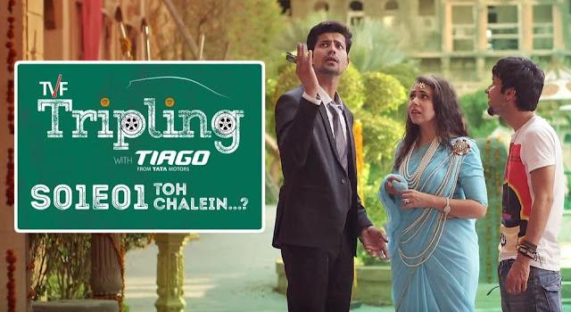 Permanent Roommates hindi web series poster