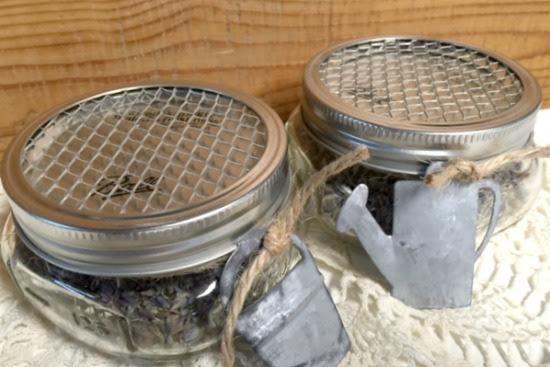 Lavender Sachets in Mason Jars