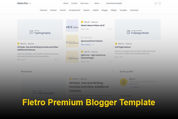 Fletro Pro V6.0 Premium Blogger Template Free Download