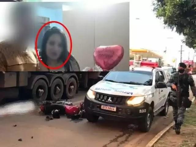 TRAGÉDIA: Jovem que morreu atropelada por carreta na capital estava grávida