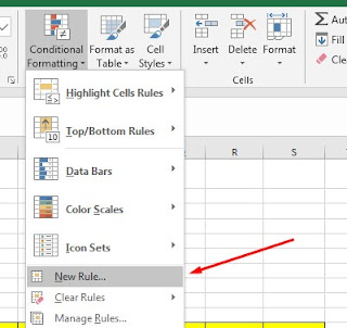 Conditional Formatting Menu