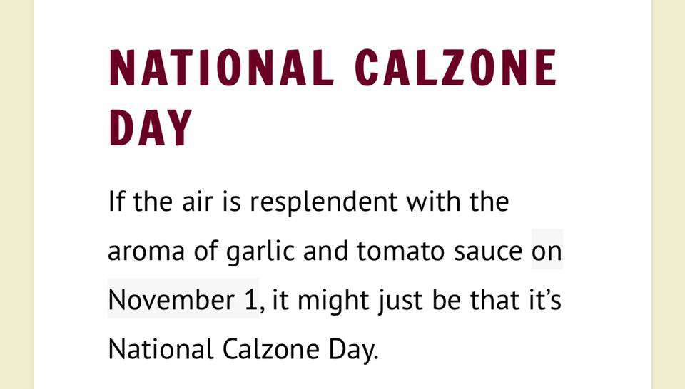 National Calzone Day Wishes Pics