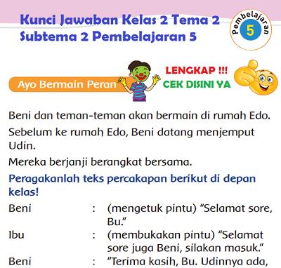 Kunci Jawaban Kelas 2 Tema 2 Subtema 2 Pembelajaran 5 www.simplenews.me