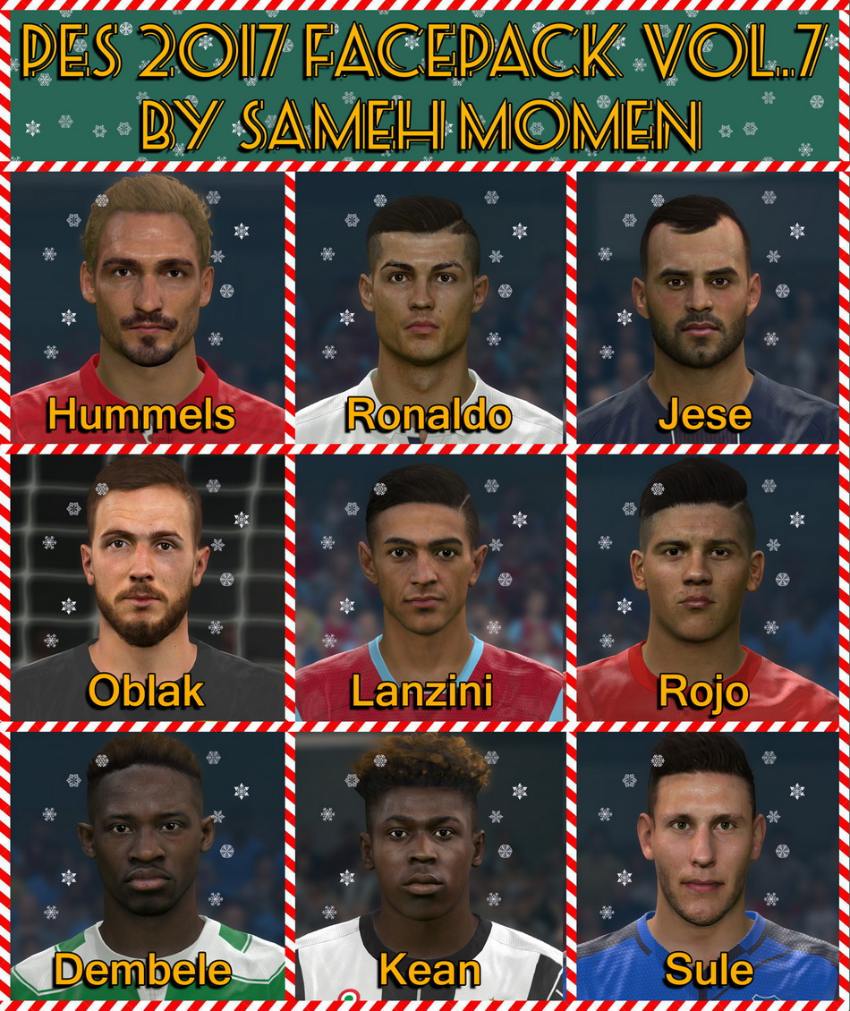PES 2017 facepack vol.7 by Sameh Momen