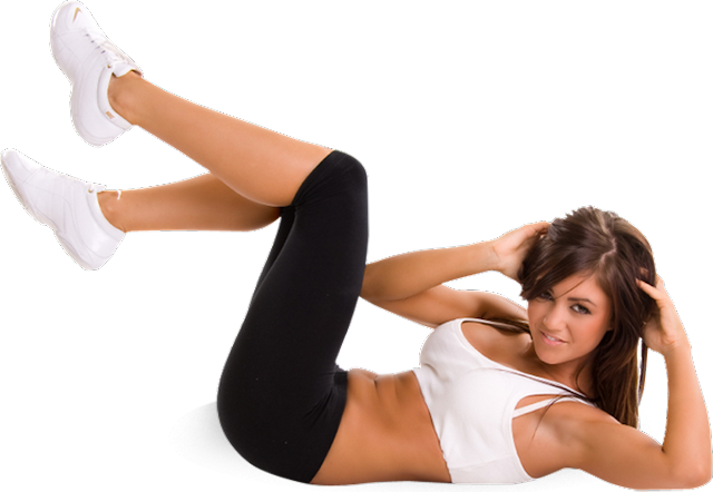 fitness femme crunch abdos