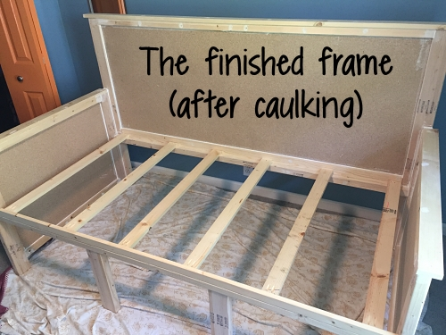 After caulking the frame