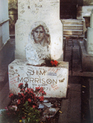 Jim Morrison's burial plot as it was the morning of May 4, 1983