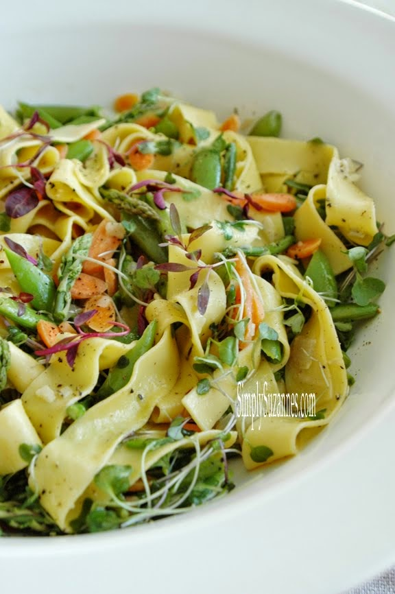 pappardelle with spring vegetables
