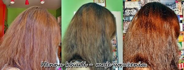 Efekt dzień po farbowaniu henną Khadi Jasny brąz w świetle dziennym i sztucznym
