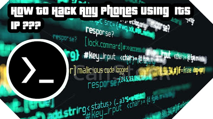 How to Hack any phone By Just Using its IP address in Termux???
