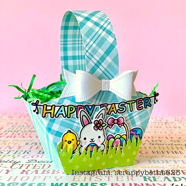 Sunny Studio Stamps: Chubby Bunny Customer Treat Bag by Scrappy BethB