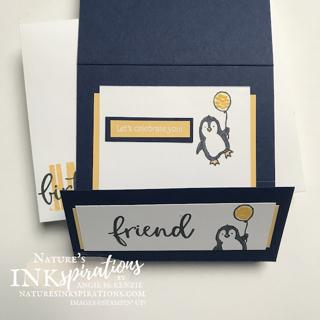 By Angie McKenzie for Ink.Stamp.Share. Monthly Blog Hop; Click READ or VISIT to go to my blog for details! Featuring the Biggest Wishes Photopolymer Stamp Set  and Count on Me Cling Stamp Set along with a sentiment from the Sweet As A Peach Photopolymer Stamp Set by Stampin' Up!® to create a fun-fold birthday card and envelope; #stampinup #cardtechniques #cardmaking #countonmestampset #biggestwishstampset #sweetaspeachstampset #birthdaycard #funfold #stampingtechniques  #stampinupcolorcoordination #inkstampsharemonthlybloghop #naturesinkspirations #stamparatus #reverseimage #coloringwithblends #diycards #handmadecards