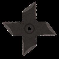 手裏剣のイラスト(四方形2)