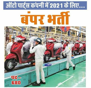 ITI Jobs Campus Placement For Honda Motorcycle & Scooter India Pvt. Ltd Two Wheelar Manufacturing Company   200 Open Vacancies