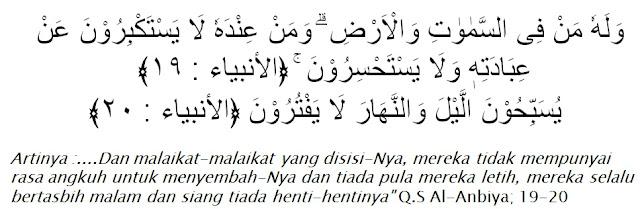 Al-Qur'an surah Al-Anbiya ayat 19-20