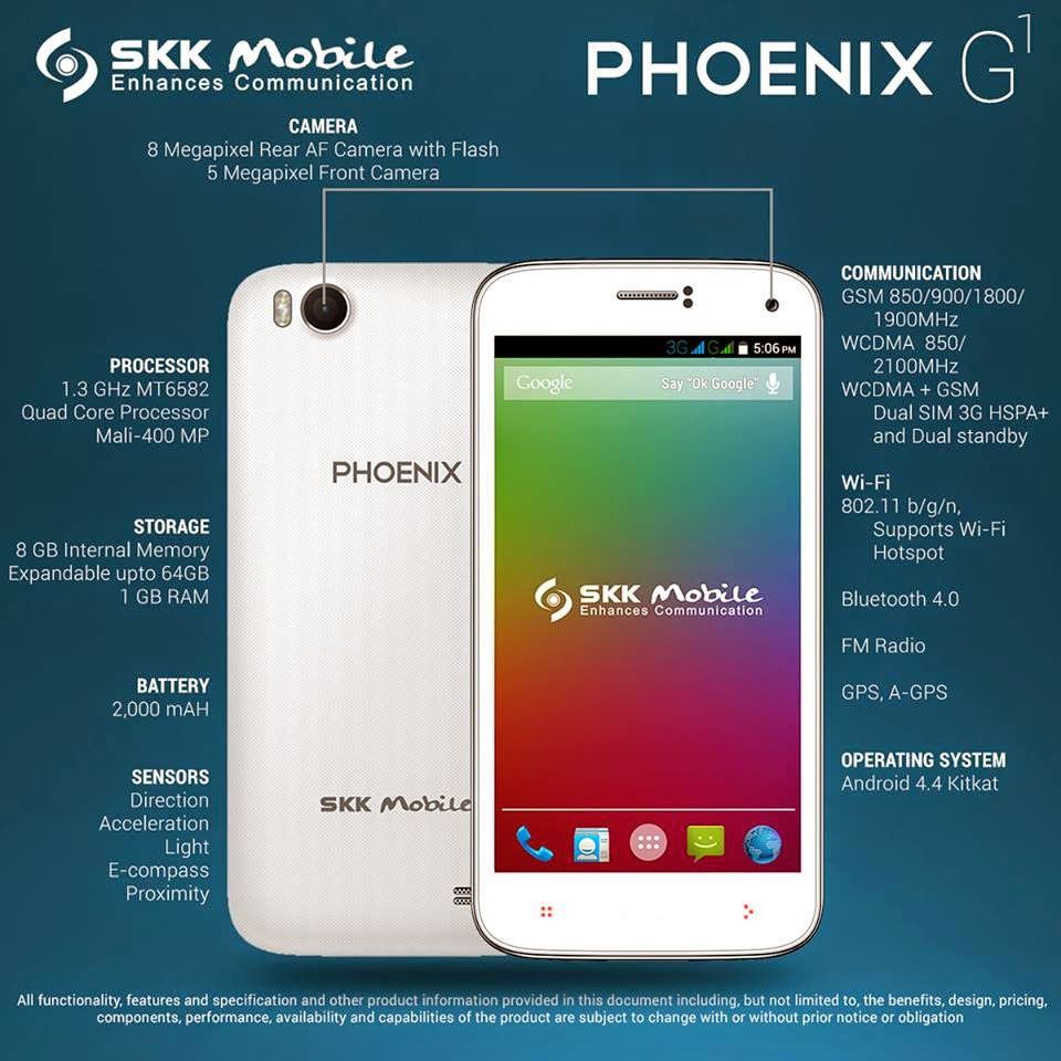 SKK Phoenix G1: 5-inch Quad-core smartphone made affordable for only Php 3,799.00