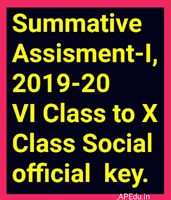 Summative Assisment-I,2019-20    VI Class to X Class Social official  key.