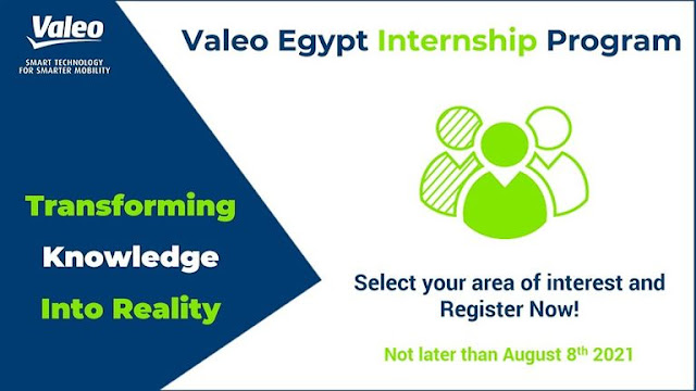 Valeo Egypt Internship Program 2021