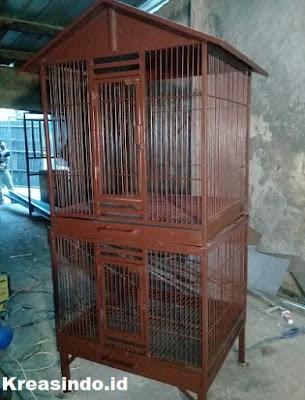 Kandang Besi untuk Ayam Pelung pesanan Bpk Bimo di Bandung