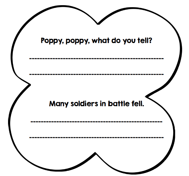 Remembrance Day art ideas, writing freebie and clipart from GradeONEderful.com