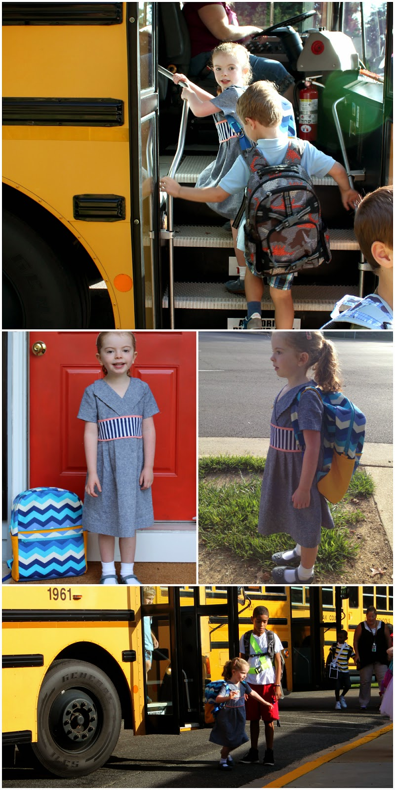 Documenting an Oliver + S Library Dress sewn for the First Day of School (Kindergarten!) in one marathon session 12 hours before the school bus arrived. | The Inspired Wren