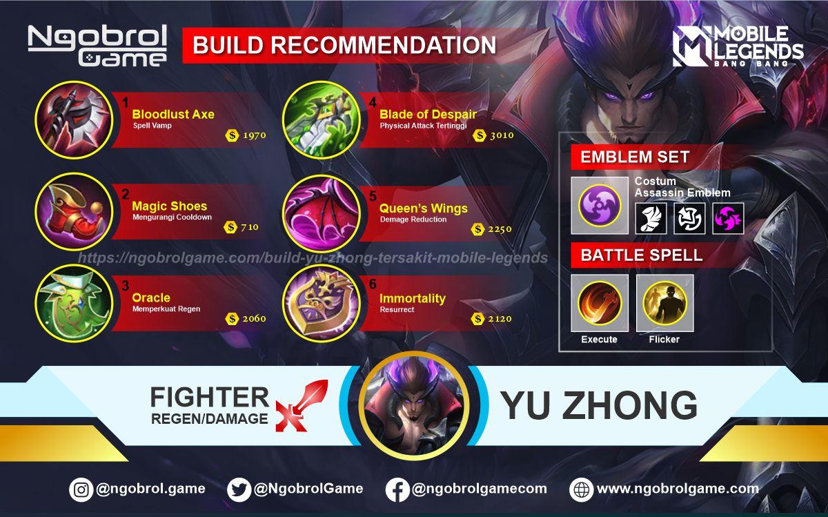 Build Yu Zhong Top Global Tersakit Mobile Legends