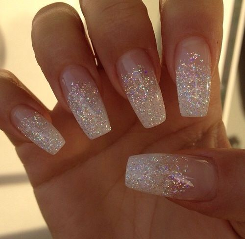 Gradient Wedding Nail Ideas