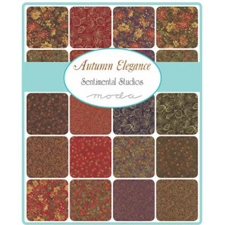 Moda Autumn Elegance Metallic Fabric by Sentimental Studios for Moda Fabrics