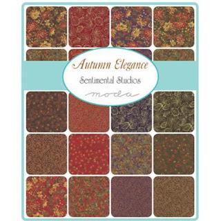 Moda Autumn Elegance Metallic Fabric by Sentimental Studios for Moda Fabrics
