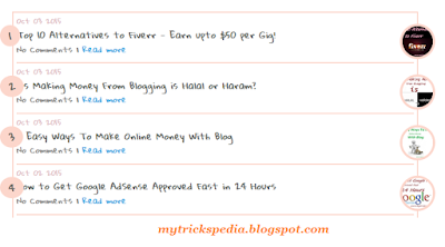 recent posts widget for blogger with comments count and tuhmnails