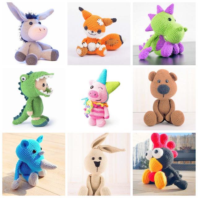 Amigurumi animals and dolls crochet patterns