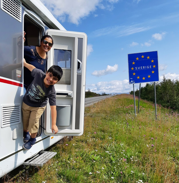 viajando de motorhome pela Suécia