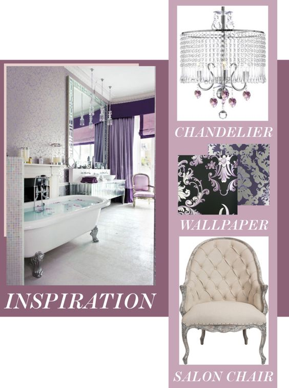 Feminine Nest - Decorate Your Bathroom With Silver, Purple, and Crystals www.toyastales.blogspot.com #ToyasTales