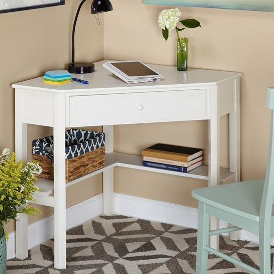 Corner bedroom desk
