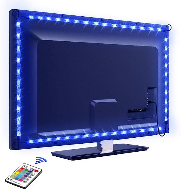 luci blu per tv