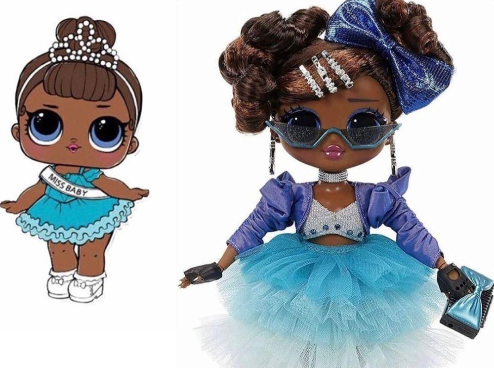 Куклы L.O.L. Surprise O.M.G. Miss Glam Present Surprise 2021 и сестричка Miss Baby