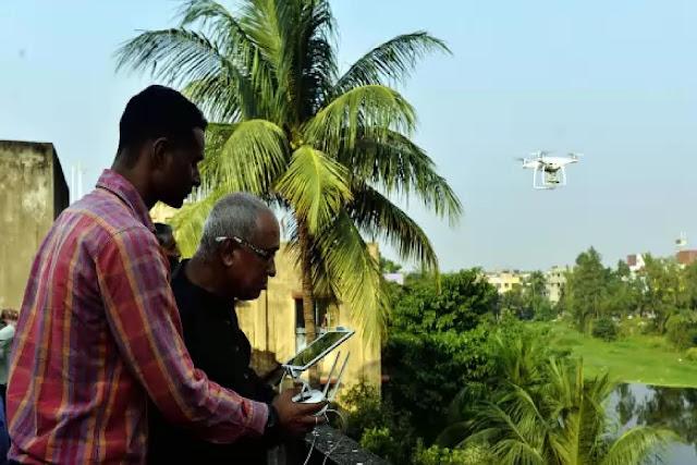Coronavirus: Lockdown surveillance with West Bengal drone