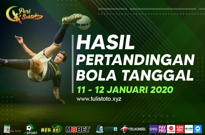 HASIL BOLA TANGGAL 11 – 12 JANUARI 2021