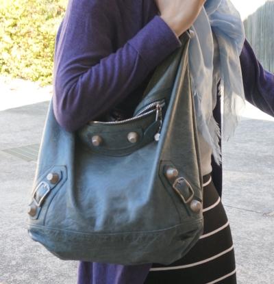 Balenciaga giant hardware Day bag in 2009 tempete worn