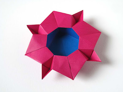 Origami bicolore, Scatola cristallina © by Francesco Guarnieri