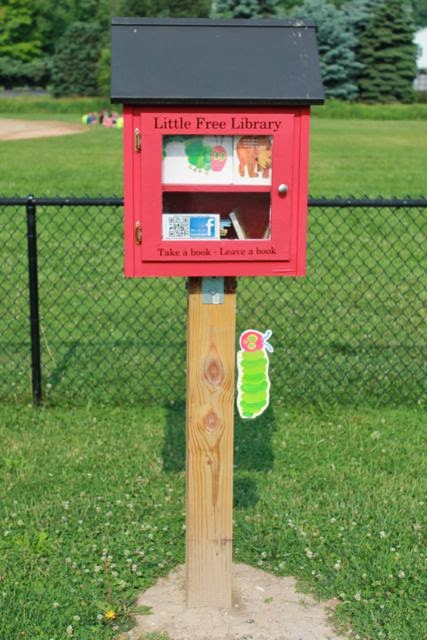 Eric Carle Birthday at Little Free Libraries via www.happybirthdayauthor.com