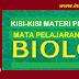 KISI-KISI MATERI PLPG 2016 MATA PELAJARAN BIOLOGI