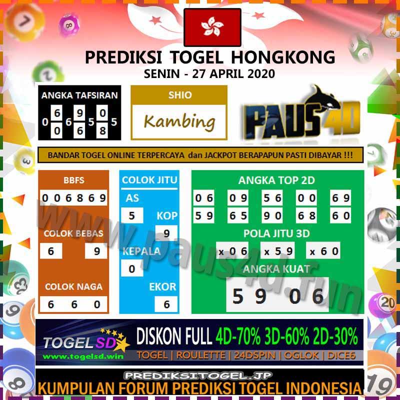 Prediksi Togel Hongkong Senin 27 April 2020 - Prediksi Paus4D