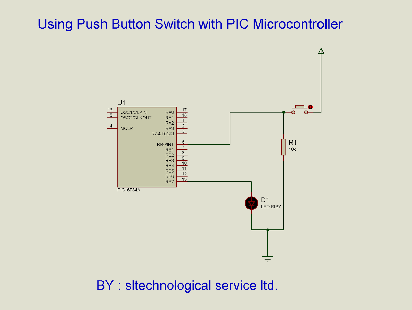 Interfacing Push Button Switch With Pic Microcontroller