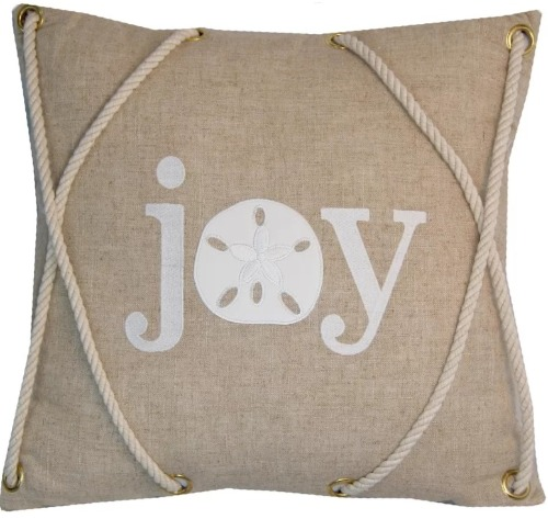 Nautical Christmas Joy Pillow