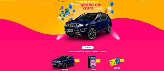 Promoção Petz Aniversário 2020 Jeep Compass e Sorteio de Prêmios